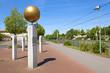 Leinwanddruck Bild - Planetenpfad mit Begrüßungsstele in Garbsen