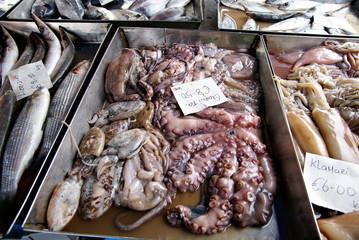 Fish market in Marsaxlokk Village,Malta