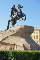 equestrian statue of Peter the Great in St Petersburg