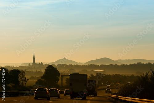 canvas print picture Sonnenaufgang an der A4