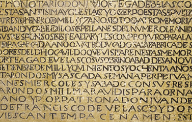 Ancient writing latin
