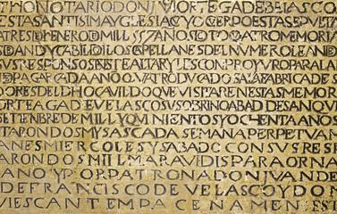 Ancient writing latin