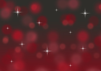 red and black abstract bokeh background with twinkling stars