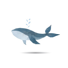 Abstract whale isolated on a white backgrounds