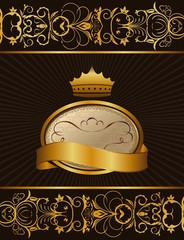 Luxury background with crown