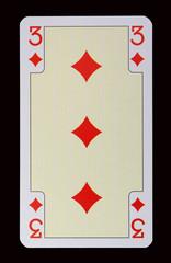 Spielkarten der Ladys - Karo Drei