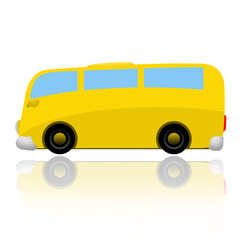 Bus isolated on white background