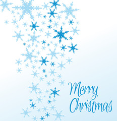 Snowflakes Merry Christmas Card