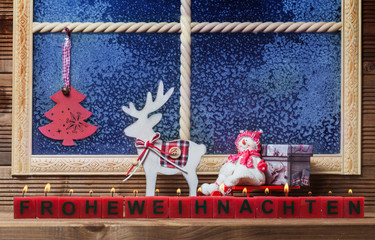Frohe Weihnachten, Fensterdekoration