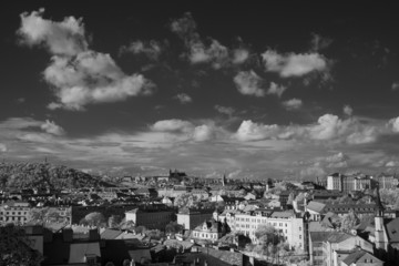 Prague skyline with St. Vitus Cathedral in the background