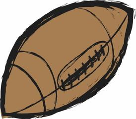 doodle American football ball