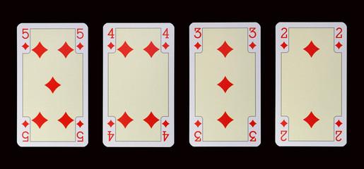 Spielkarten der Ladys - KARO