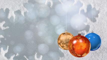 Christmas ball. Background.
