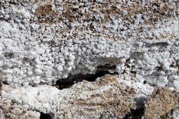 Salt crystallisation at coast of the Dead Sea, Jordan