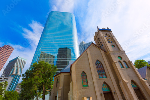 Staande foto Texas Houston cityscape Antioch Church in Texas US