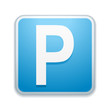 canvas print picture - Parking sign
