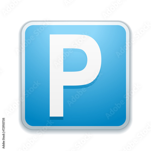 canvas print picture Parking sign