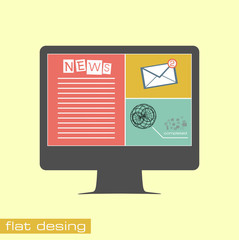 Business concept flat icons