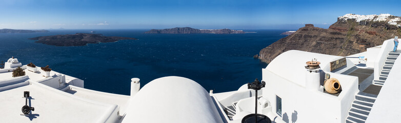 Panorama of the caldera of Santorini