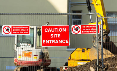 Caution - Site Entrance