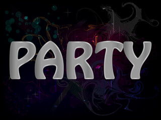 Party Abstract Grunge Colorful Background Poster Vector