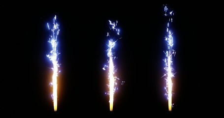 4K - Firework. Fire Torch