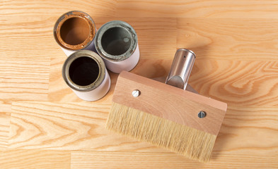 paintbrush for wood and paint