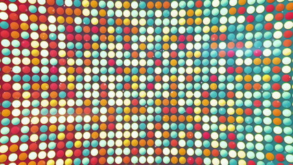 colorful circles loopable background