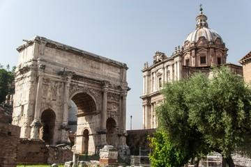 Arch of Septimius Severus at the Roman Forum, Rome