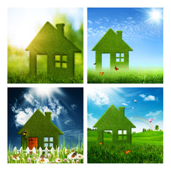 Set of assorted eco and environmental backgrounds for your desig