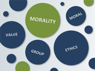 Blue and Green Circles for Morality Concept Design