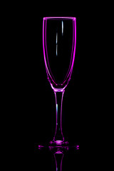 Champagne glass pink