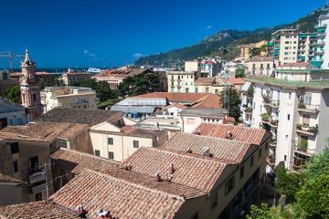 Aerial view of Salerno