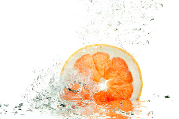 Fresh grapefruit splash