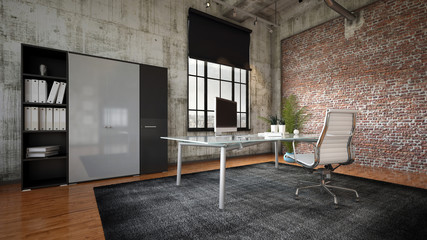 Commercial office in a modern interior