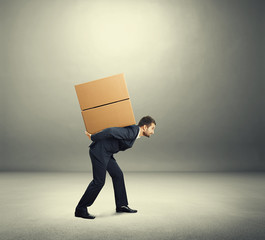man carrying on the back