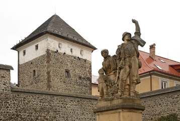 Monument in Kremnica. Slovakia