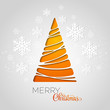 Merry Christmas tree greeting card. Paper design - 72956171