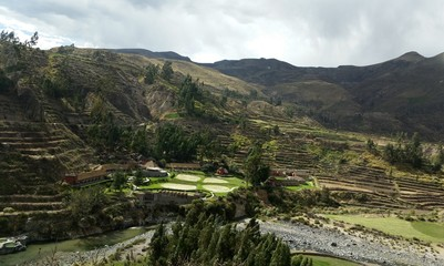 Colca Canyon one of the deepest canyons