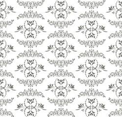 Black background seamless ornamental pattern, illustration