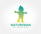 Abstract nature character logo icon concept. Logotype template