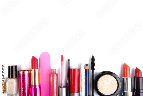 cosmetic set isoalted frame border  background - 72956938
