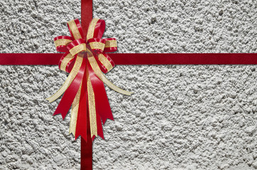 Red Ribbon on Concrete  for background