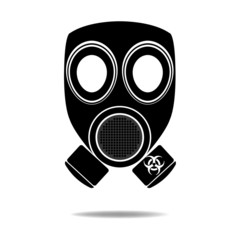 Gas Mask with Biohazard