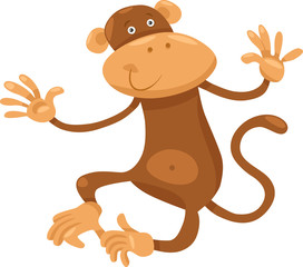 cute monkey cartoon illustration