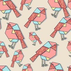 patchwork bird pattern