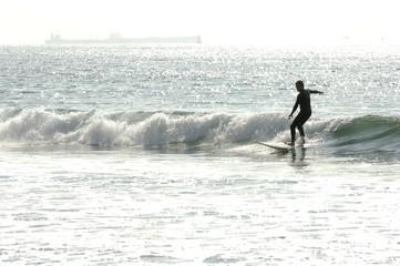 Surfer in Venice Beach, Los Angeles, California