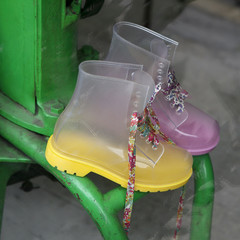 yellow funny boots on vintage market