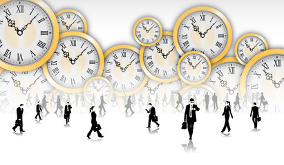 tempo, orologi, silhouette