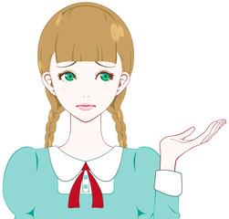 困る少女 紹介